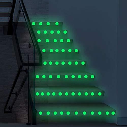 PMSMT Pegatinas 3D con Puntos de Estrellas Que Brillan en la Oscuridad, Pegatinas de Pared Fluorescentes Luminosas,Interruptor de Escalera dePVC,decoración de habitación, Pegatina de Pared