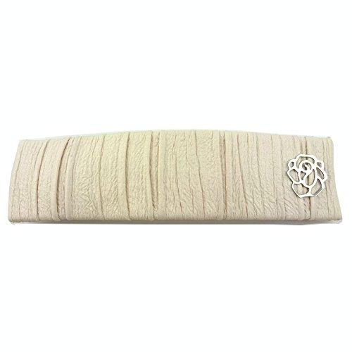rougecaramel - Accessoires cheveux - Barrette cheveux rectangulaire simili cuir - ivoire