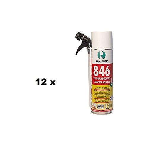 12 x Ramsauer Brandschutz 2K PU Schaum 846 B1 400ml Dose