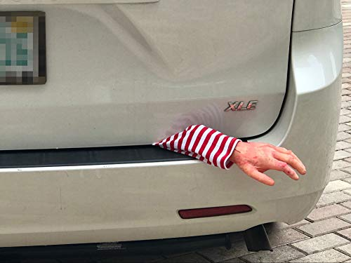SummitLink Halloween Realistic Fake Hand with Cloth Arm for Car Trunk Dead Body Prank Decoration Prop Novelty Gift Toy (L)