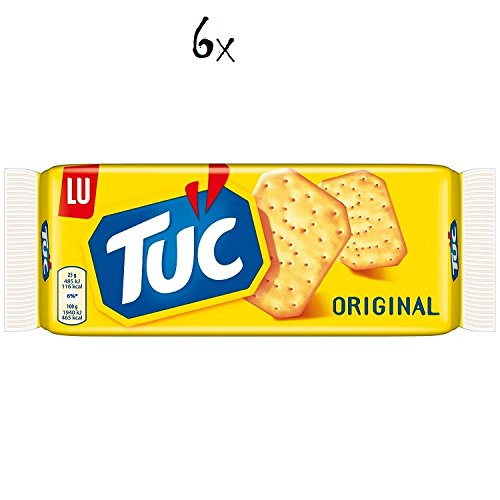 6x TUC Kekse Salzgebäck Cracker Classic 100g Packung 600 gr biscuits cookies