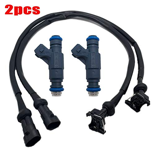 ALLMOST SET OF 2 Fuel Injector with Pigtail Harness Compatible with Polaris Ranger RZR Sportsman 700 800