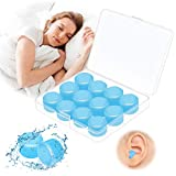 Ear Plugs for Sleeping, 2021 Upgraded Ear Plugs for Noise Reduction, 6 Pairs Waterproof Reusable Silicone Noise Cancelling Ear Plugs for Swimming, Snoring, Working, 32dB Highest NRR