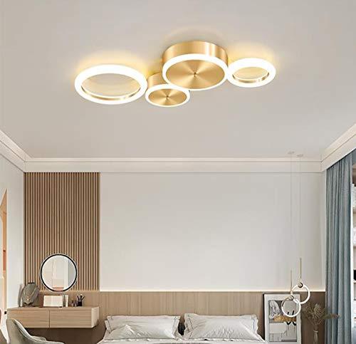 Luz de techo creativa LED moderna, diseño geométrico, luz de techo regulable, pantalla de acrílico redonda creativa, utilizada en el comedor, el dormitorio, la sala de estar, [energía de nivel A]