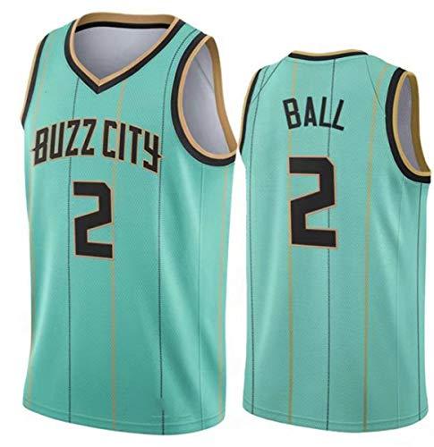 GIHI Camisetas De La NBA, Camiseta Charlotte Hornets Lamelo Ball # 2, Camiseta De Entrenamiento Unisex De Tela Fresca Y Transpirable, Chaleco Sin Mangas para Fanáticos,XXL(185~190CM/95~110KG)