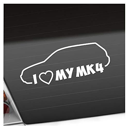I Love my MK4 20 x 8 cm IN 15 FARBEN - Neon + Chrom! Sticker Aufkleber