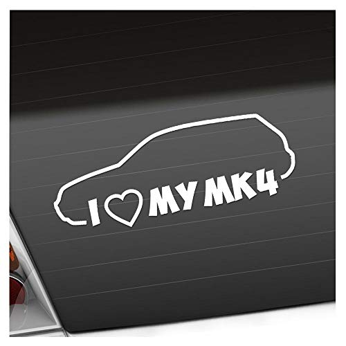 I Love my MK4 20 x 8 cm IN 15 FARBEN - Neon + Chrom! Sticker Aufkleber