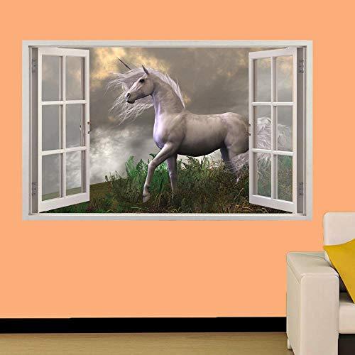 Wandtattoos-3D-FAIRY Pferd WALL STICKERS ART MURAL POSTER NURSERY HOME DECOR-50x70cm