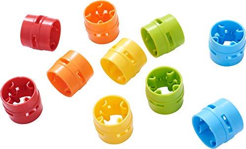 HABA 304801 - Kullerbü – Ergänzungsset Verbindungsmanschetten, Zubehör für alle Kullerbü-Bahnen, bringt noch mehr Farbe und Abwechslung ins Kullerbü-Spiel, ab 2 Jahren