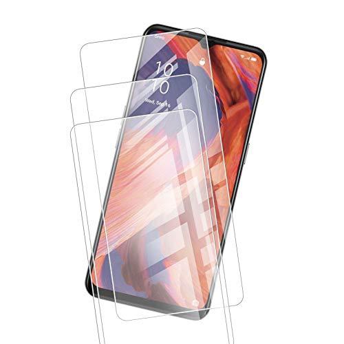 JIENI - Protector de pantalla de cristal templado transparente para Oppo K7X (6,5 pulgadas), [3 unidades] dureza 9H, muy duradero, antiarañazos, cristal templado ultra transparente