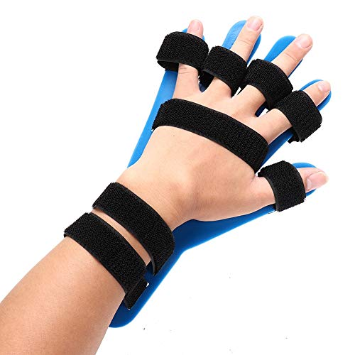 Zyyini Finger Orthotics Splint, Silicone Hands Training Board Support Brace Easy to Bent, for Finger Recovery