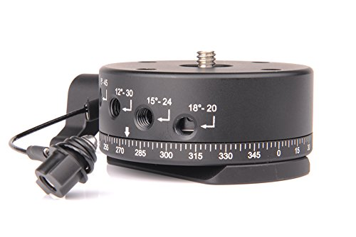 SunwayFoto DDP-64SIX Indexing Rotator with Arca Dovetail Mounting Plate, 13.23 - 17.64lbs Capacity