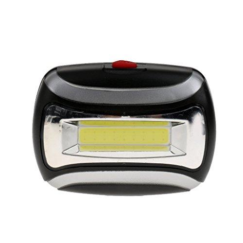 ノーブランド品 防水 600LM COB ヘッドライト 3W LED ライト アウトドア サイクリング ヘッド ランプ 全4色選ぶ - ブラック