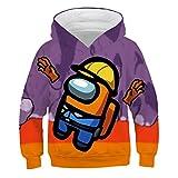 3D Among Us Hoodies Niños Impostor Game Cosplay Anime Streetwear Cartoon Pullover Sudadera Niños 4-14Y Tops