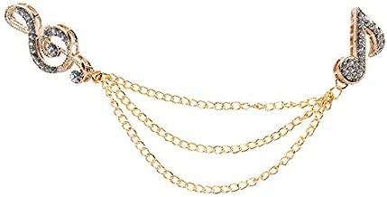 Sanding Blocks Unisex Men Women Music Notes Rhinestone Brooch Pins Suit Boutonniere Collar Lapel Enamel Pin Leaf Brooches Accessories XR268 Gold
