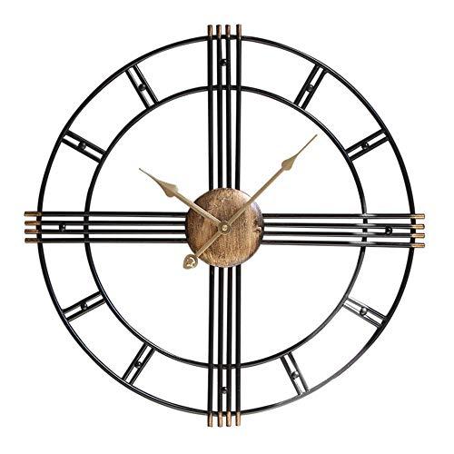 Horloge murale Vintage Horloge en fer forgé Horloge européenne Horloge murale Horloge murale (taille : 60 cm)