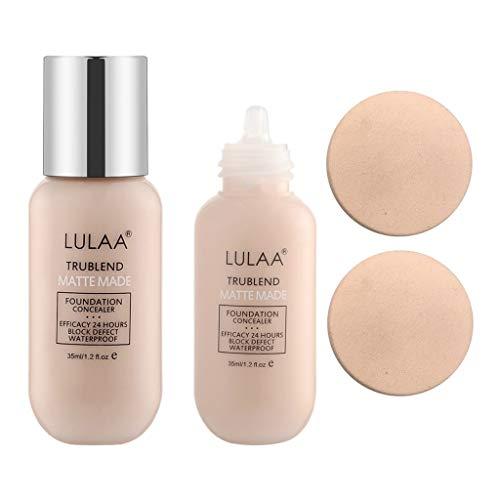 Maquillaje en crema hidratante de base impermeable líquido mate de larga duración profesional (A)