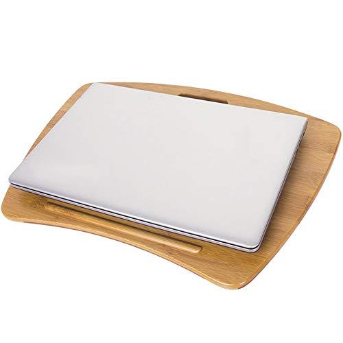 Muebles para el hogar, bandejas de bambú, mesas, escritorio para computadora, portátil, mesa perezosa, esponja, rodilla, cojín para mesa móvil, mesa para tableta, mini mesa pequeña (tamaño: 54 * 37