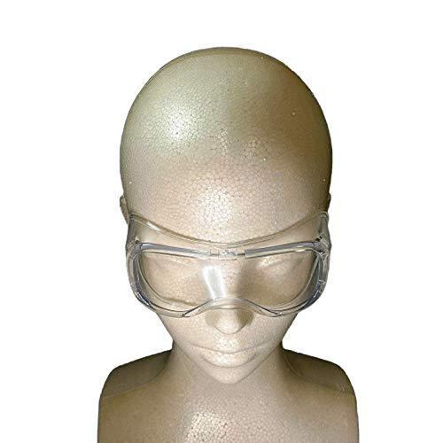 あかつき 防護メガネ 軽量 透明 クリア 小さめ 曇り止め 防曇 保護用アイゴーグル 防塵ゴーグル 花粉症 飛沫カット 眼鏡着用不可 子供 女性 用(10個セット)