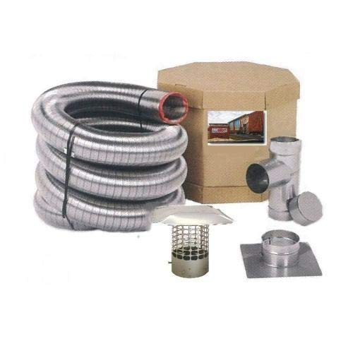 Cheapest Price! Chim Cap Corp. SmoothWall Double Ply Stainless Steel Chimney Liner Kit - 8 x 50'