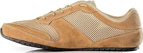 Magical Shoes Explorer Barfußschuhe   Damen   Herren   Jugendliche   Laufschuhe   Zero Drop   Flexibel   Rutschfest, Größen:40/256mm, Farbe:MS Explorer Hot Sun - Beige