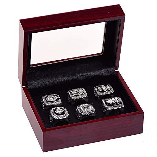 YIYICOOL Oakland Raiders Championship Ring Super Bowl & AFC 1967 1976 1980 1983 2002 Replica Ring with Display Box