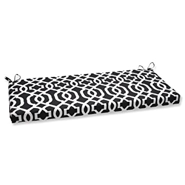 Pillow Perfect Outdoor New Geo Bench Cushion, Black/White