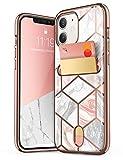 "i-Blason Cosmo Wallet Slim Designer Wallet Case for iPhone 12 Mini (2020), 5.4"", Marble"