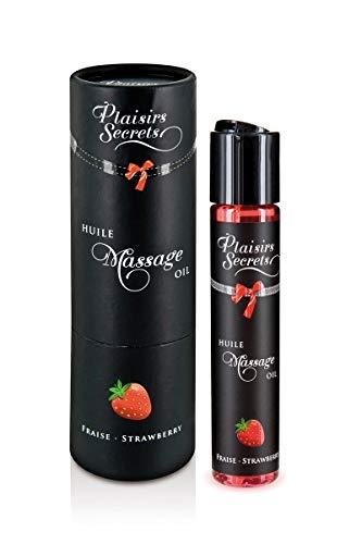 Plaisirs Secrets Huile de Massage Comestible Fraise 59 ml