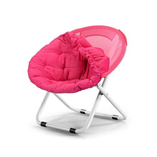 Chaise Pliante Canapé Paresseux Amovible Et Lavable Ordinateur Canapé Tabouret Salon Chambre Fauteuil Inclinable (Couleur : Rose)
