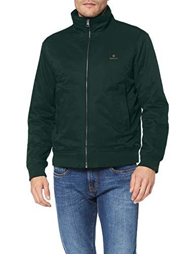 Gant D1. The Hampshire Jacket Chaqueta, Verde Tartan, L para Hombre