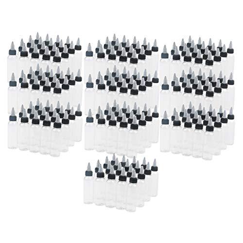 SDENSHI 200 x 60ml/2oz Fiole Vide avec Capuchon Noir Twist