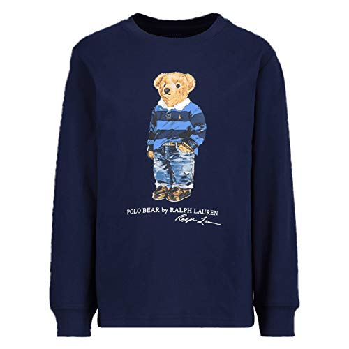 Polo Ralph Lauren - Camiseta Manga Larga Azul Oso 323805681002 - Camiseta...