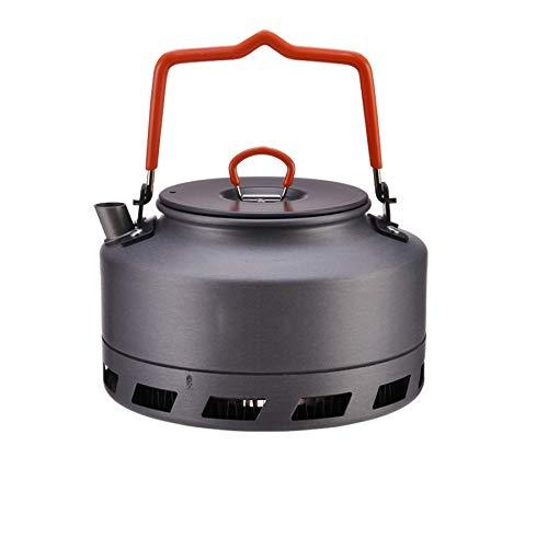 DSEKO Metal Teapot, Outdoor Portable Mini Teapot, Modern Camping Tea Maker with Short Spout Design