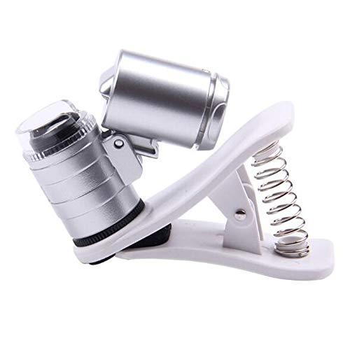 60-faches Mikroskop-Licht, tragbare Lupe mit LED-Fotografie für Universal-Smartphones und Tablet-Kameras