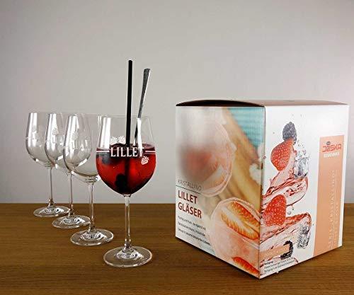 Lillet Gläser im 4er Set exklusiv im Geschenkkarton