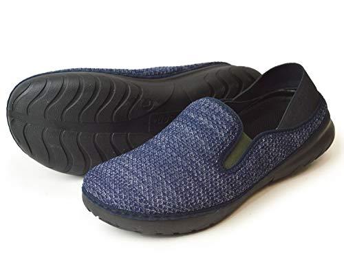[ウイルソン] スリッポン メンズ スニーカー 超軽量 サボサンダル 2way カップインソール アウトドアシューズ バブーシュ サイドゴア 防滑 屈曲 靴 メンズシューズ fk992 Navy S(24-24.5cm相当)
