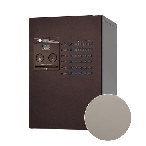 Panasonic 集合住宅用 宅配ボックス コンボ-メゾン ミドルタイプ [CTNR4620L] 左開き 共有使い6錠 パナソニック (ステンシルバー色)