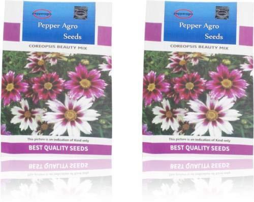 GEOPONICS SEED Coreopsis semi di bellezza Mix 2 confezioni dei semi (300 per pacchetto)