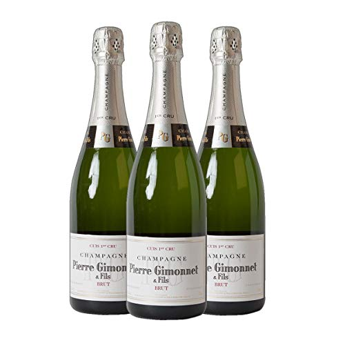 Champagne Cuis 1er Cru - brut 1/2 -halbe-Flasche Champagner trocken (3x 0.375 l)