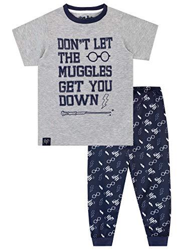 HARRY POTTER Pijamas de Manga Larga para niños Hogwarts Gris 7-8 Años 11