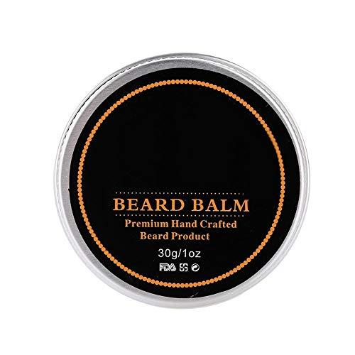 Kit de cuidado de barba, bigote de madera de pera natural, herramienta para el cuidado del cabello, juego de peinado de barba, para el hogar(Animal, 2-piece beard oil + paste)