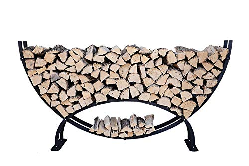 Buy The Woodhaven 8 Foot Crescent Firewood Rack
