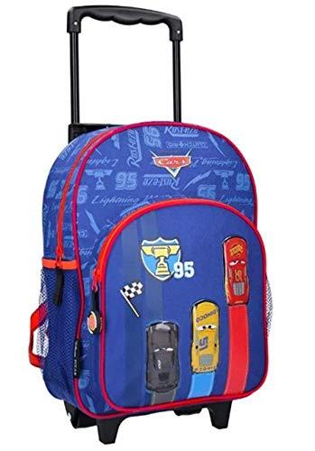 Disney Cars Trolley Rucksack für Kinder - Lightning McQueen - Blau