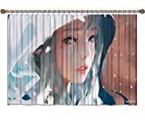 CAFO Personalización de Cortina de Alta Densidad wlop eva Cuchillo Fantasma Beauty Warrior Close-up Cortina insonorizada HD 2 Paneles (W) 500x (H) 240cm