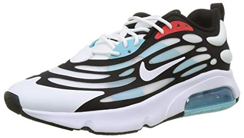 Nike Herren AIR MAX EXOSENSE Laufschuh, White Black Chile Red Speed Yellow Bleached Aqua, 42.5 EU
