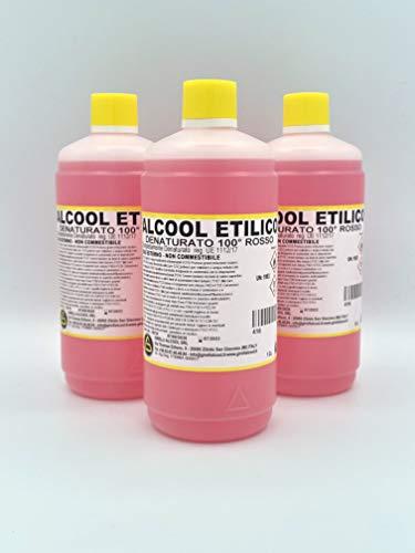 Alcool Etilico Denaturato 100° PACK da 3 LITRI