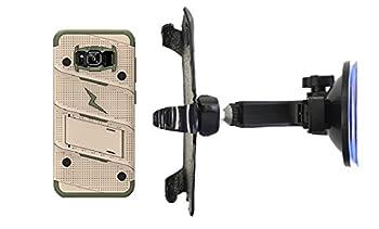 SlipGrip Car Holder for Samsung Galaxy S8 Plus Using Zizo Bolt KS Case HV