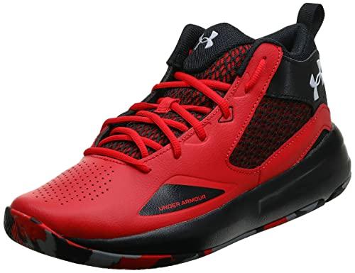 Under Armour Lockdown 5, Zapatillas de Baloncesto Unisex Adulto, Rojo (Versa Red/Black-601), 43 EU