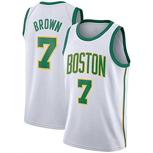 AGLT 2021 NBA Hombre Basketball Jersey,Ropa de Baloncesto,Camisetas Al Aire Libre Casual Mujer Redondo CháNdales,F,XXL
